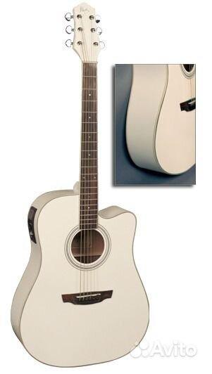 Электроакустическая гитара Flight AD-200 CEQ WH.  Москва