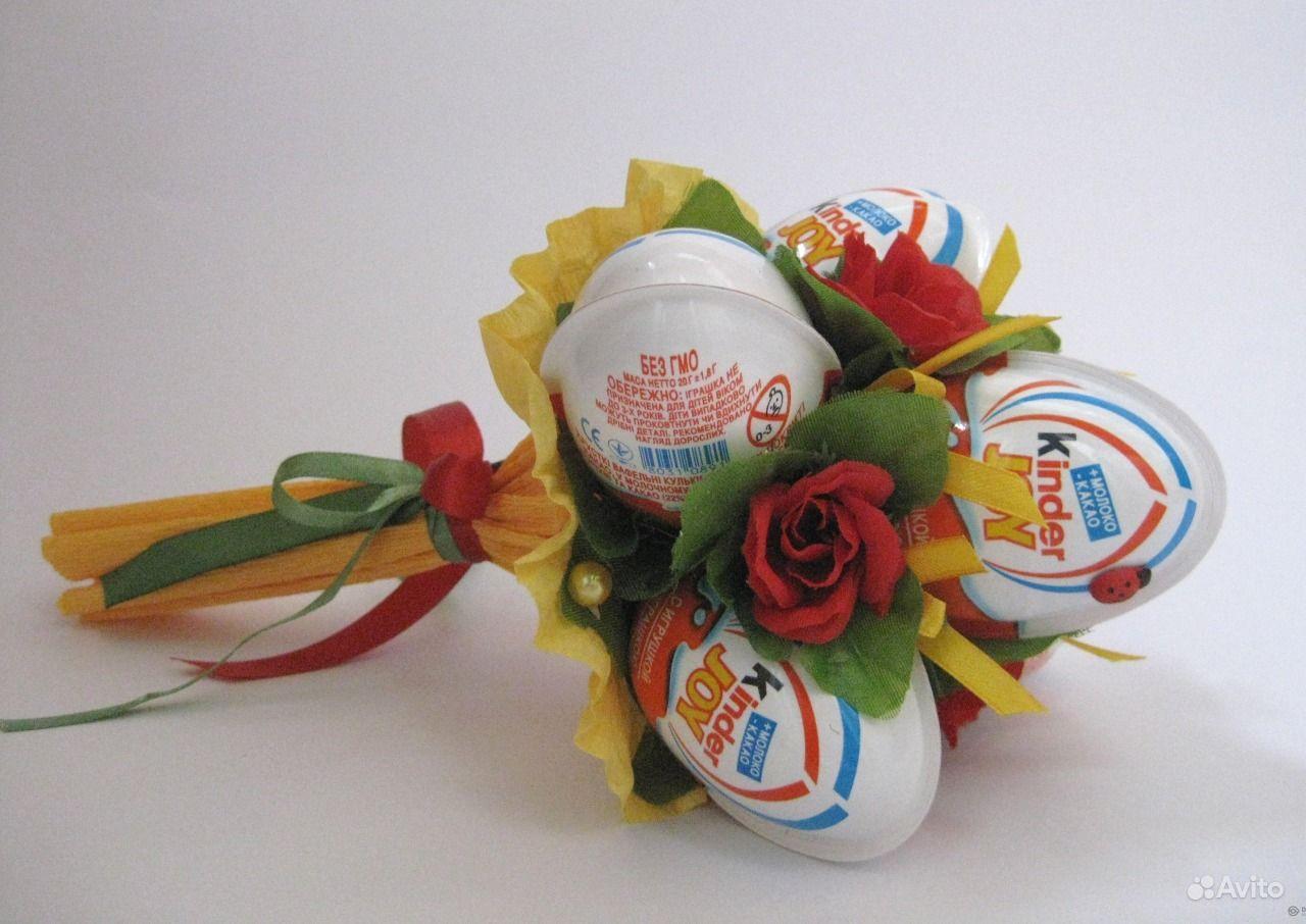 Букет из киндер яиц своими руками пошаговое для начинающих