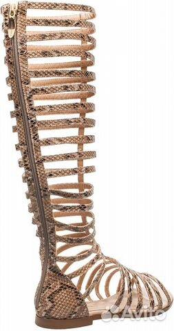 Женские римские сандалии-гладиаторы: фото высоких