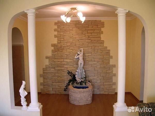 фото стен с декоративным камнем