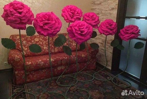 Цветы из гофрированной бумаги. розы