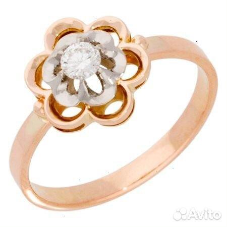 R02-d-lrm48113, кольцо, золото 585 пробы, p165, вставки: 2 бр