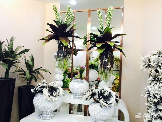 напольные вазы с цветами фото: