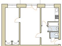 2-к. квартира, 45м², 4/5эт.