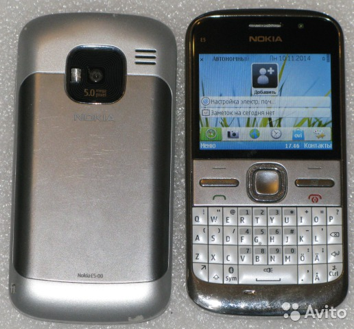 Nokia E5 White - qwerty клавиатура— фотография №1
