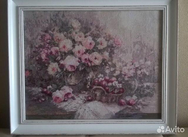 Вышивка розовый прованс золотое руно