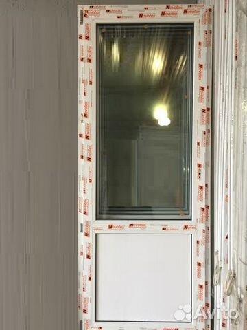 Дверь 806х2010 мм пвх готовая на балкон купить в москве на a.