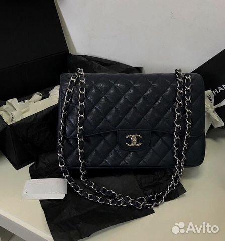 81b3f7ceefa4 Chanel Шанель Jumbo Сумка 30 Клатч Икра Кожа купить в Москве на ...