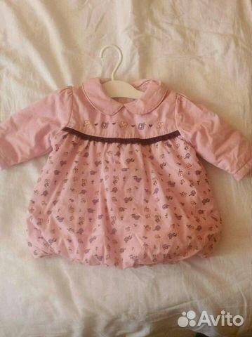 Платье 3-6 мес утепленное на тонком синтепоне  b3beef049d791