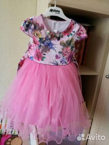f28a6cd2c33 Нарядное платье на девочку 4-5 лет купить в Ленинградской области на ...