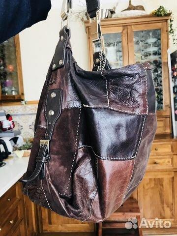 Кожаная сумка в стиле пэчворк купить 1