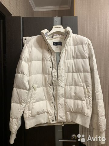 Мужская куртка пуховик Armani jeans 54IT XL 81a2415aed8