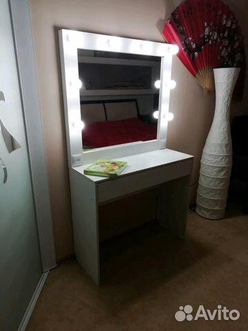 туалетный столик с гримерным зеркалом и подсветкой купить в