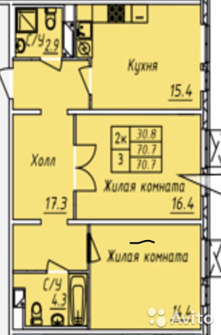 Продается двухкомнатная квартира за 8 400 000 рублей. г Москва, г Зеленоград, Георгиевский пр-кт, д 33 к 6.