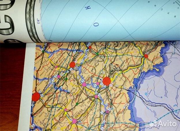 Карта транспорта России. Карта дорог России 89315780321 купить 3