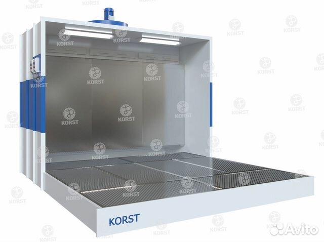 Покрасочная камера Корст с активным водяным полом