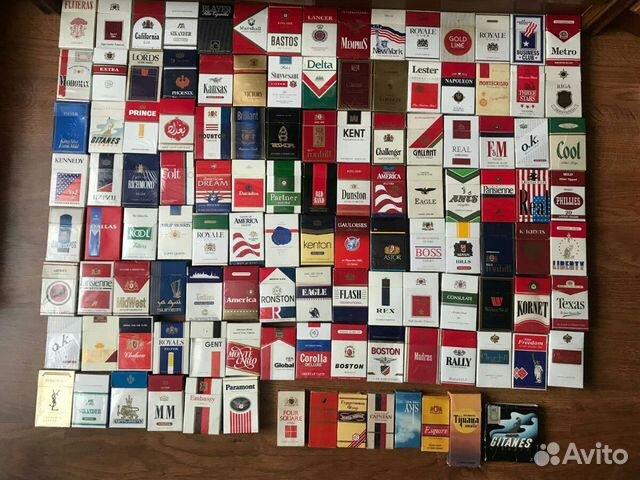 фото коллекции пустых пачек от сигарет что