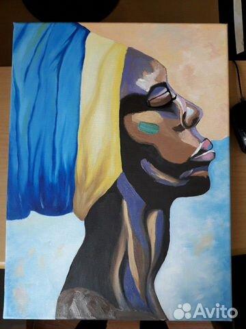Картина Африканка 30х40 купить 1