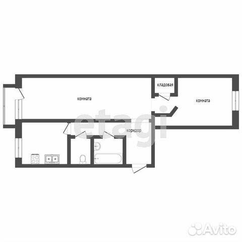 2-к квартира, 46.2 м², 4/5 эт.  89065254602 купить 10