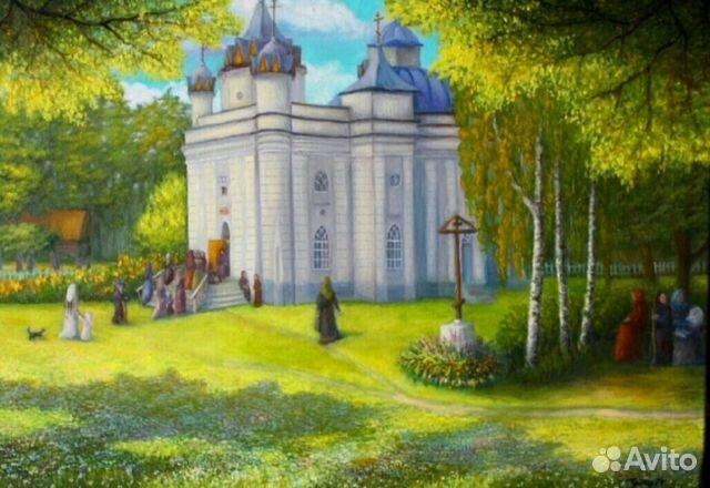 Картина маслом село Великая Топаль  89003643396 купить 1