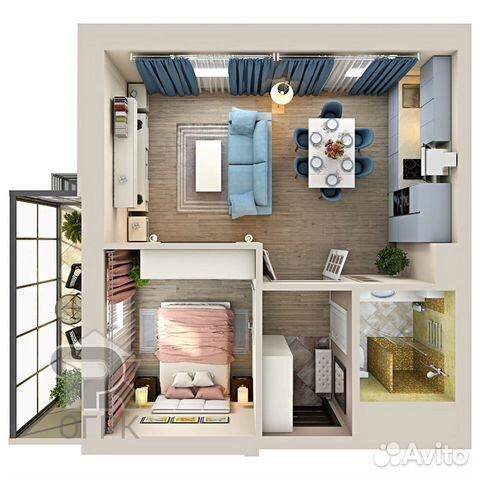 2-к квартира, 46.9 м², 11/20 эт.
