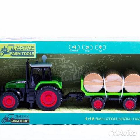Детская игрушка трактор с прицепом