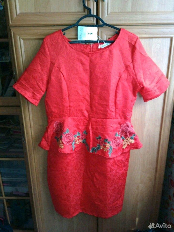 Платье новое с баской
