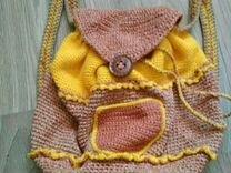 Рюкзак небольшой вязаный