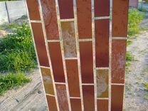 Гибкая клинкерная плитка на сетке для интерьера