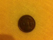 Монета Германия 2 пфеннига Бронза 1924 г
