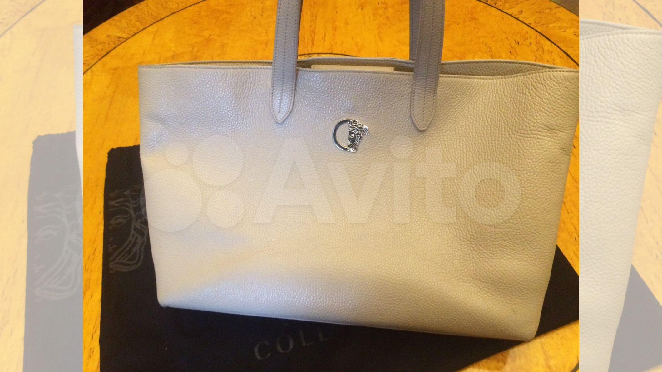 afceec46ede2 Сумка шоппер от Versace кожа оригинал бу беж яя купить в Санкт-Петербурге  на Avito — Объявления на сайте Авито