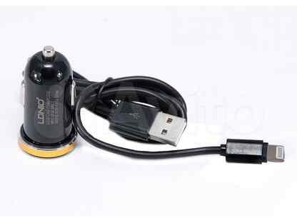 Азу USB 2.1A 2 USB порт ldnio DL-С22 кабель microU