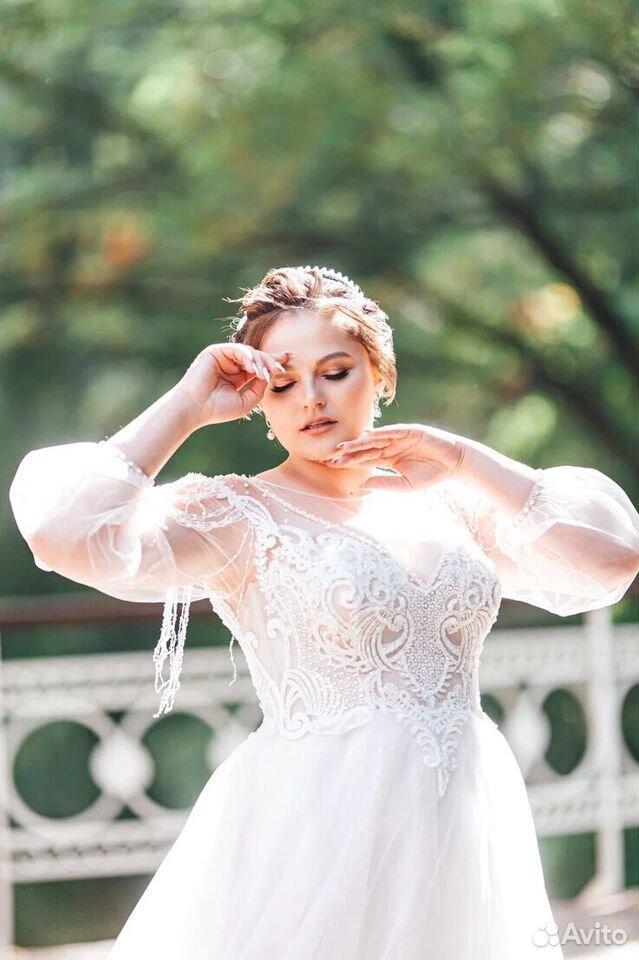 Платье свадебное 48-50 размер  89204772286 купить 4