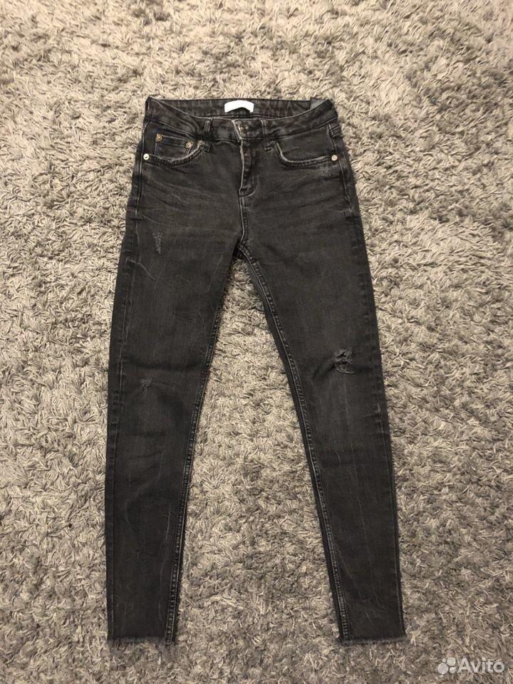 Джинсы Zara серые, 36 размер  89032636918 купить 1