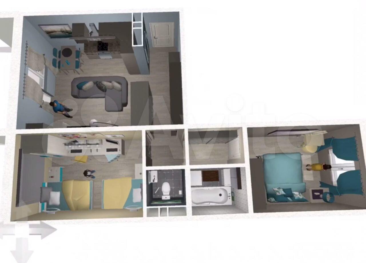 2-к квартира, 59 м², 2/10 эт.  89587396655 купить 1