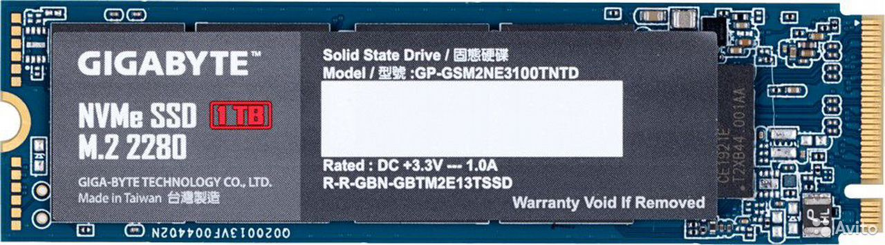 Жесткий диск SSD 1Tb Gigabyte M.2